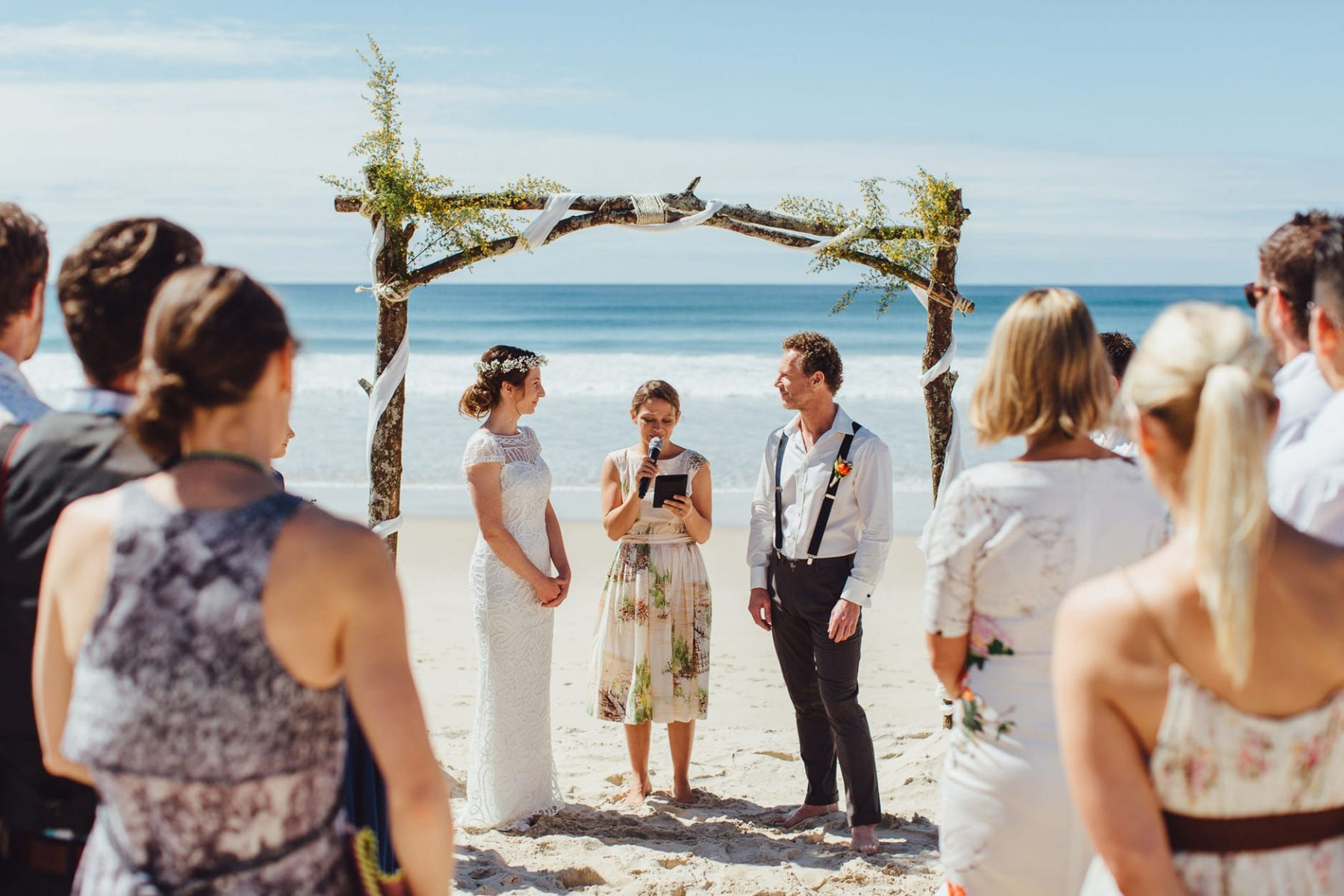 intimate beach ceremony byron bay broken head