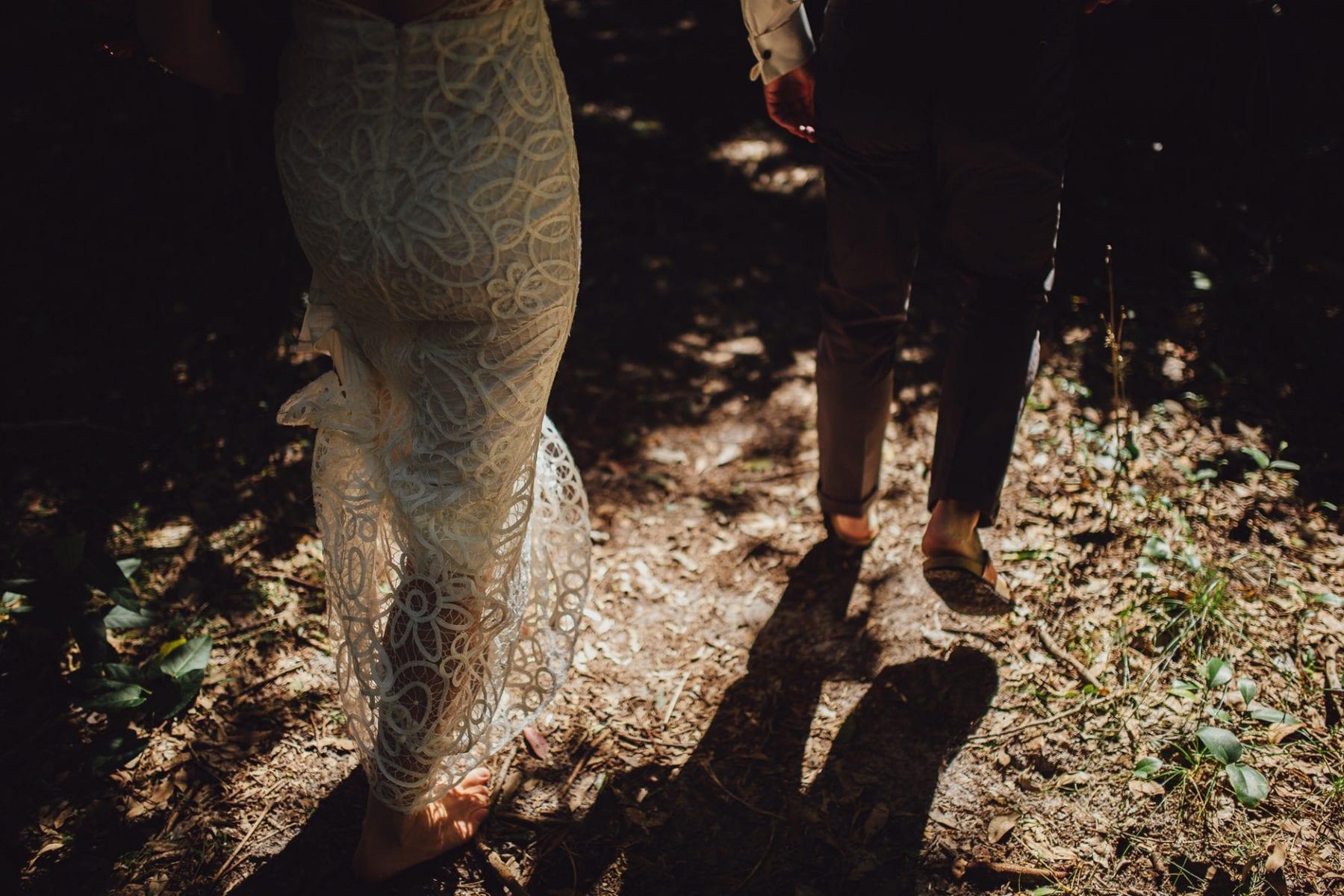 barefoot bride broken head beach