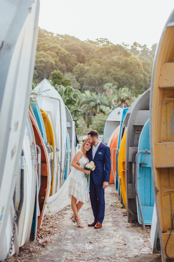 KATE & LACHY'S COLOURFUL WEDDING AT BYRA YACHT CLUB